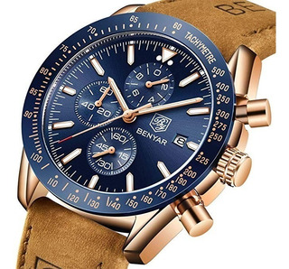 Reloj Deportivo Benyar 5140 Pac Cuero Casual Caja Crono