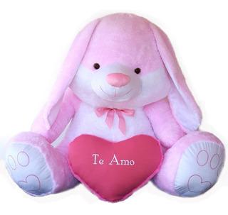 Coneja Gigante 1,35 Corazón Bordado E. Gratis San Valentín