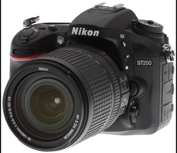 Câmera Nikon D7200 Kit Lente Af-s Dx 18-140mm Ed Vr+nfe