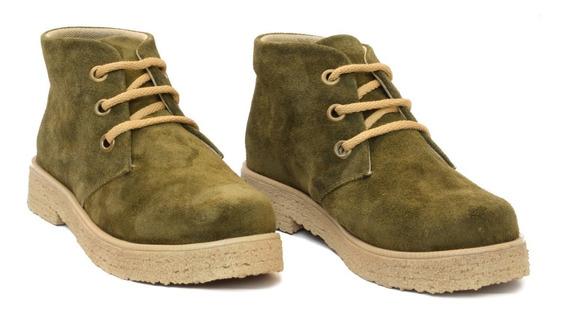 Botas Mujer Botinetas Zapatos Chavitos Gamuza Cuero Legítimo