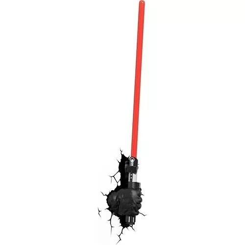 Luminária De Parede Star Wars Sabre Darth Vader 3d Light Fx