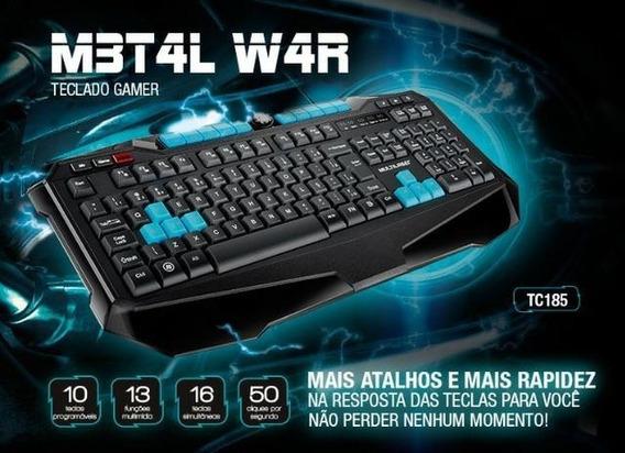 Teclado Gamer Multilaser Metal War Tc185