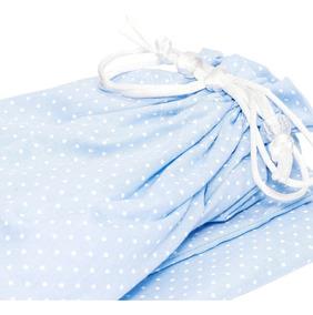 Saquinho Roupa Suja E Plastificado Azul Cuca Criativa