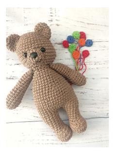 Muñeco Apego, Oso, Peluche Tejido A Crochet
