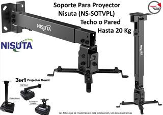 Soporte P/proyector Nisuta (ns-sotvpl) Techo O Pared 20kg