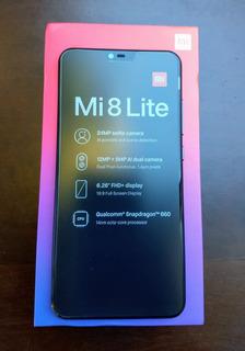 Celular Xiaomi Mi 8 Lite 64gb + 4gb Ram Black +capa+pelicula