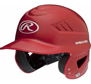 Casco De Beisbol Rawlings Doble Orejera Rojo Nuevo
