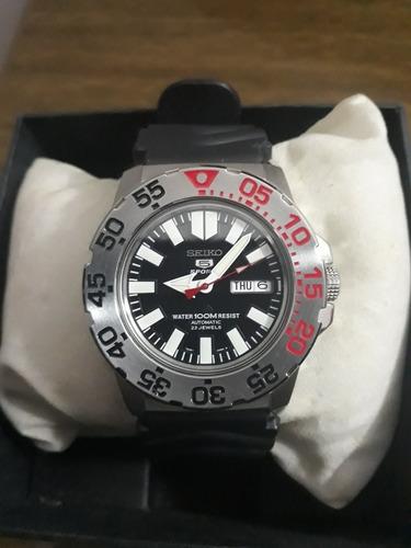Relógio Seiko Monster Automático, Pulseira De Borracha