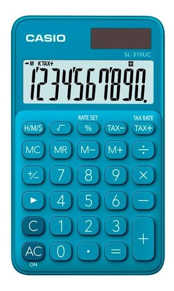 Calculadora De Bolso Casio Sl-310uc 10 Dígitos Portátil