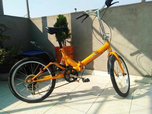 Imagen 1 de 5 de Bicicleta Japonesa Con Amortiguacion Stella Aro 20 Plegable