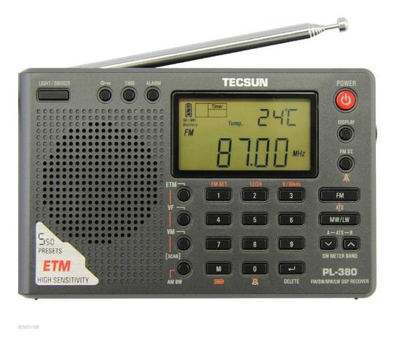 Rádio Tecsun Pl-380 Dsp Pll Fm Am/sw/lw ( Degen Sony Sangean