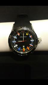 Relógio Nautica - Original - Pulseira De Borracha Preta