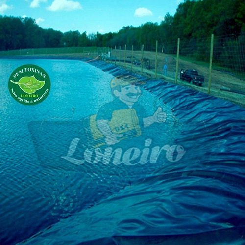 Lona Redonda 15 Metros Diâmetro Lago Tanque Peixe Escavado