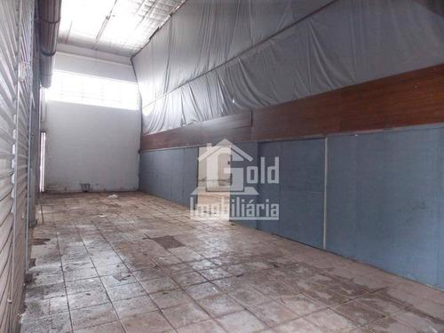 Galpão Para Alugar, 834 M² Por R$ 6.000,00/mês - Vila Brasil - Ribeirão Preto/sp - Ga0181