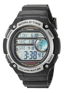 Reloj Casio Ae3000w Triple Time Digital Agente Oficial Jr