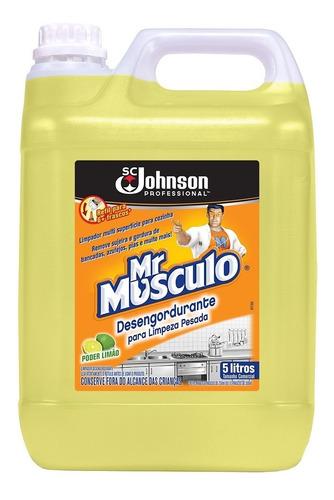 Desengordurante Para Limpeza Pesada Limão Mr Músculo 5l