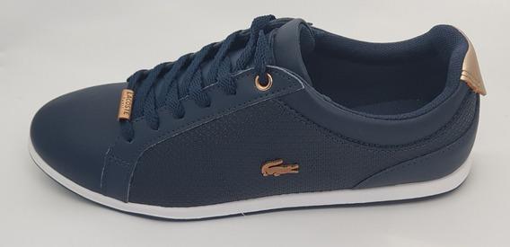 Zapato Tenis Para Dama Lacoste Rey Lace Azul