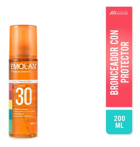 Emolan Solar Aceite Fps 30 200ml Protector Solar En Aceite