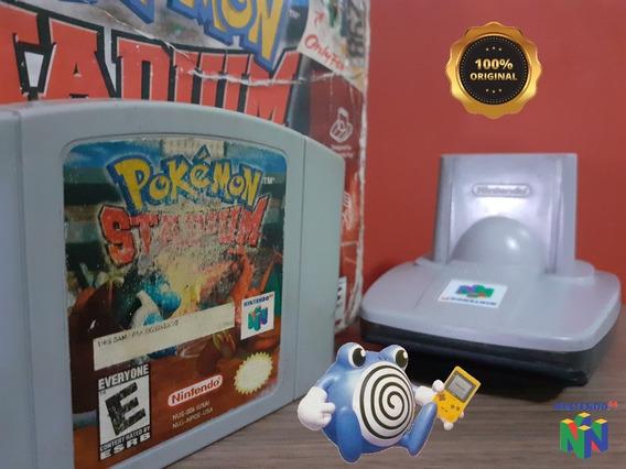 Pokémon Stadium Caixa Transfer Pak Nintendo 64 Original N64