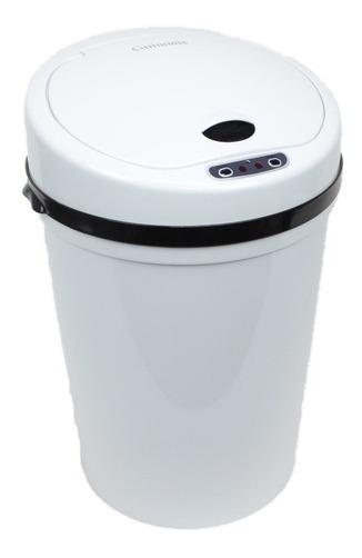 Lixeira Com Sensor Automatica Banheiro E Cozinha Branca Luxo