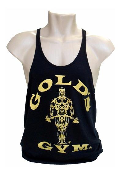 Regata Cavada De Musculação Gold