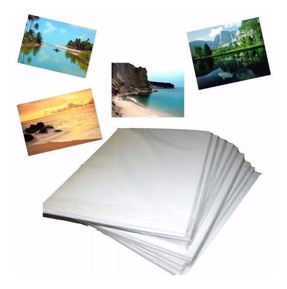 100 Folhas Papel Foto Glossy 180g A4 Brilho Prova D