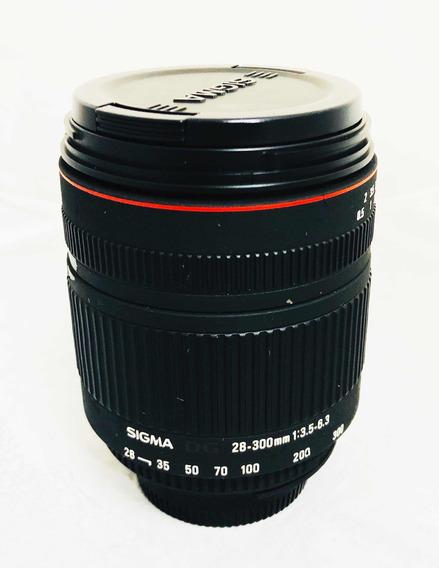 Lente Nikon Sigma 28-300 Macro