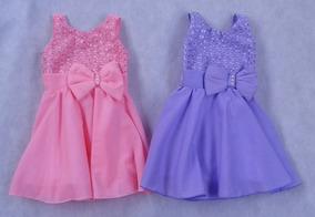 Kit Com 2 Vestidos De Bebê, Menina, Princesa, Veste Até 1