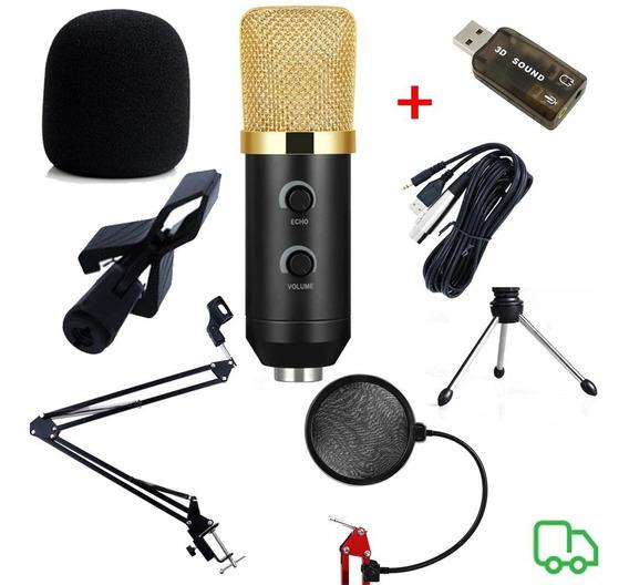 Microfone Mkf100tl+ Braço Articulado + Pop Filter + Brinde