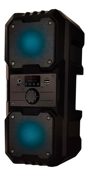 Caixa Som Bluetooth Amplificada Portátil Led Potente Hi-fi