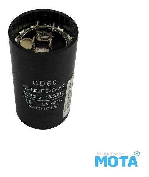 Capacitorde Partida 220v 108x130 Mota 1/8