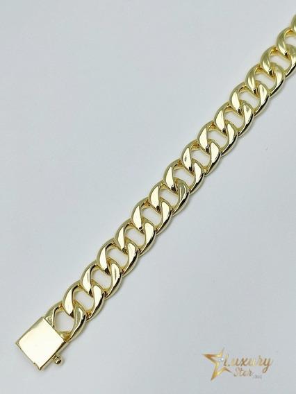 Pulseira Bracelete De Ouro 18k Masculina Grumet Elo Barato