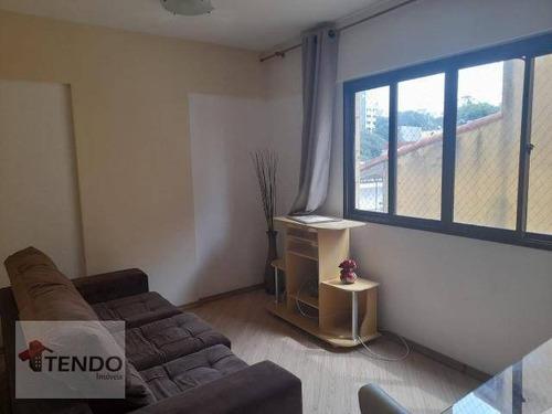 Imagem 1 de 13 de Imob01 - Apartamento 50 M² - Alugar - 1 Dormitório - 1 Suíte - Santa Terezinha - São Bernardo Do Campo/sp - Ap2708