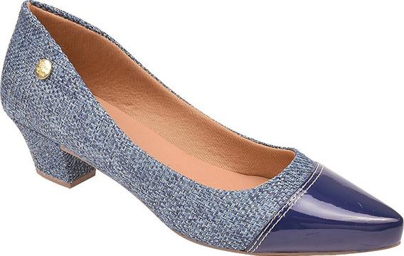 Sapato Feminino Scarpin Salto Baixo Rosa Chic Ref: 36.012