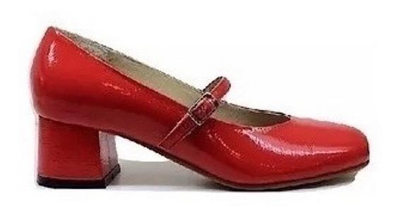 Zapato Mujer Guillermina Natacha Charol Crash Rojo #331