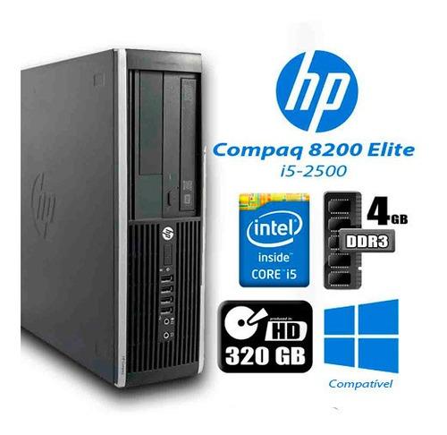 Imagem 1 de 3 de Hp 8200 Elite I5 8gb Ram 320gb Hd Monitor 18 Teclado E Mouse