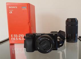 Sony A6000 + Lente 16-50 + Lente 55-210 + Capa De Couro