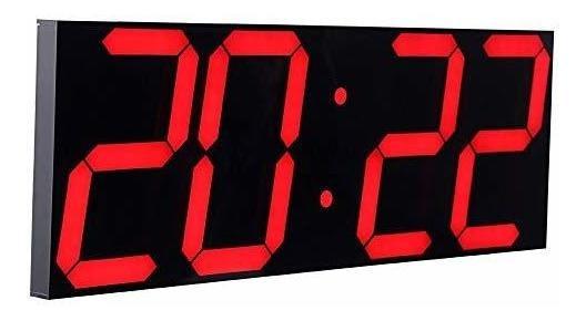 Reloj De Pared Led Jumbo A Control Remoto, Multifunción Led