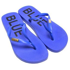 Chinelo Feminino Flip Flop Santa Lolla Azul Royal