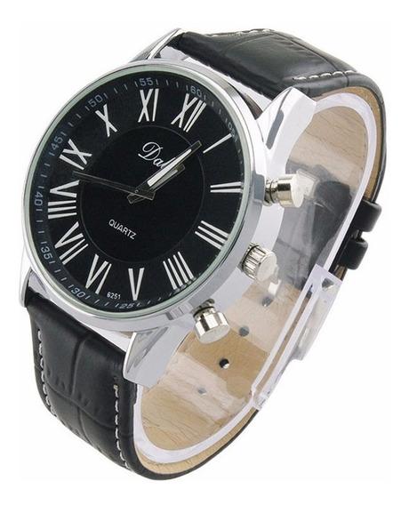 Relógio Masculino Original De Couro Preto