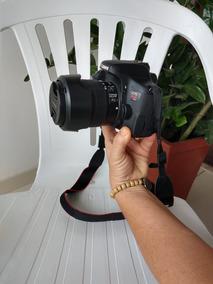 Câmera Canon Eos Rebel T6i + Lente 18-55+ Lente 50mm + Flash