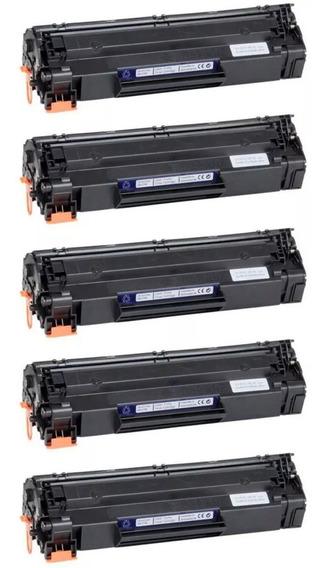 Kit 5 Toner 435/436/285 P/ Laserjet Pro M1212 Mfp M1132 Mfp
