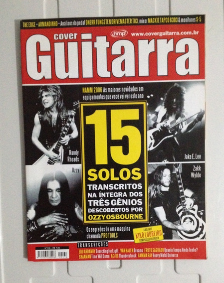 Revista Cover Guitarra Edição 136 Abril 2006 Rara