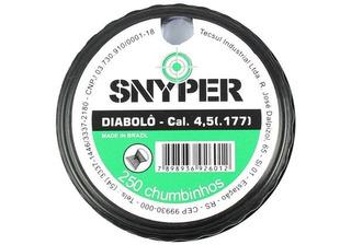 5 Caixas Chumbinho Snyper Diabolô 4.5mm 250un.