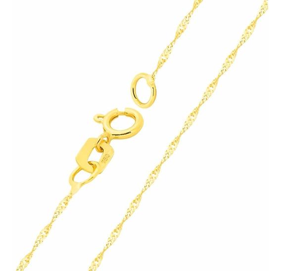 Corrente De Ouro 18k Cordão Feminina Singapura - Viagold C46