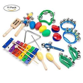 Wonyered Kids 11pcs Instrumentos Musicales Xilófono De Jug