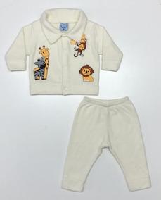 Conjunto Baby 2507 Casaco E Calça Em Microsoft