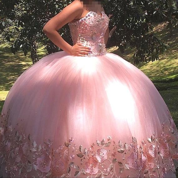 Vestido De Quinceañera Color Rosa Baby