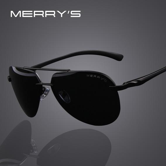 Oculos De Sol Polarizados Uv 400 Aluminio Sunglasses Merry