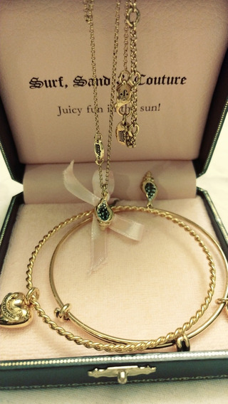 Set Collar Sea & Sun Y Brazaletes Juicy Couture 100%ori